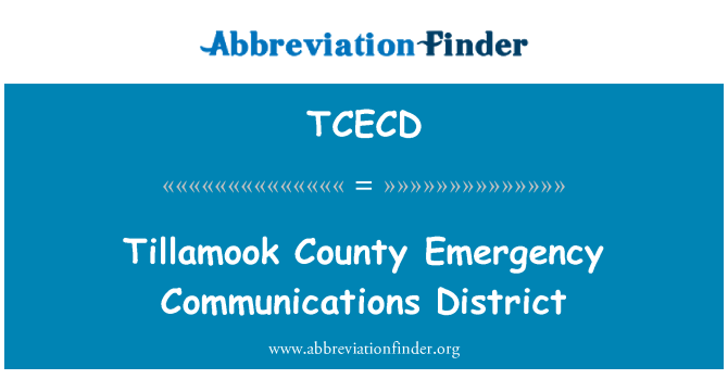 TCECD: Tillamook County Emergency Communications District