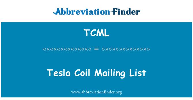 TCML: Tesla Coil Mailing List
