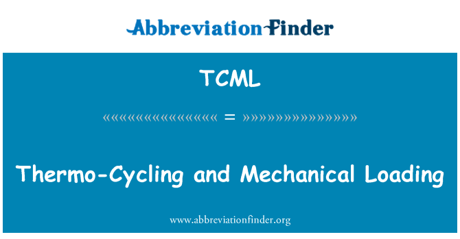 TCML: Thermo-Cycling and Mechanical Loading
