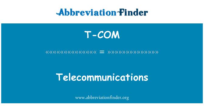 T-COM: Telekommunikatsiooni
