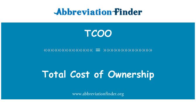 TCOO: ملکیت کی کل لاگت