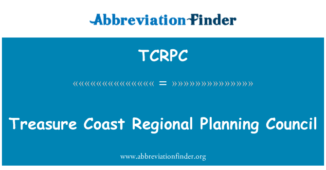 TCRPC: Treasure Coast Regional Planning Council