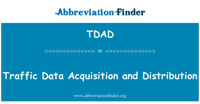 TDAD: Данни за трафик придобиване и разпределение