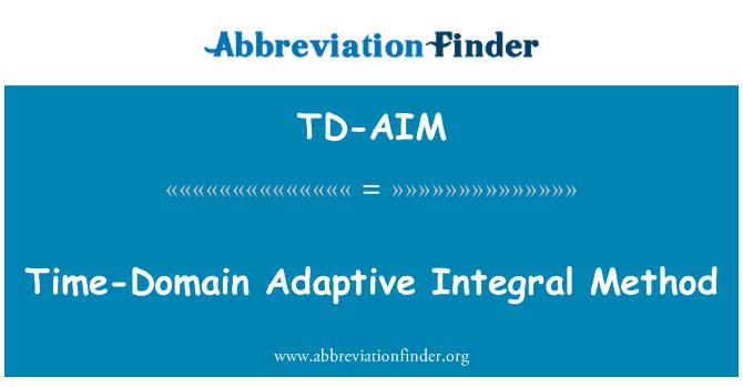 TD-AIM: Time-Domain Adaptive Integral Method
