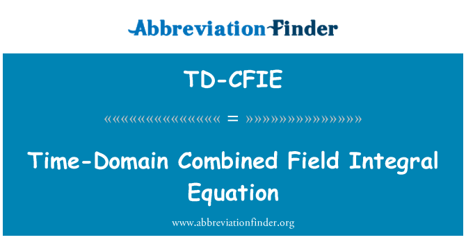 TD-CFIE: Time-Domain Combined Field Integral Equation