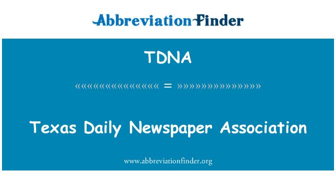 TDNA: Texas Daily Newspaper Association