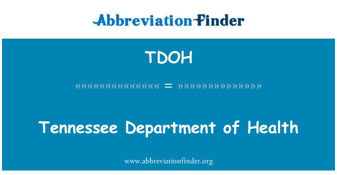 TDOH: Tennessee Ministarstva zdravstva