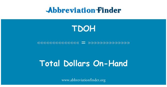 TDOH: Celkový dolarů na skladě