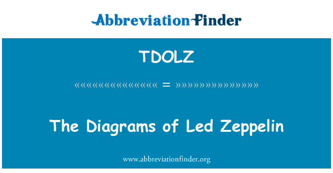 TDOLZ: The Diagrams of Led Zeppelin