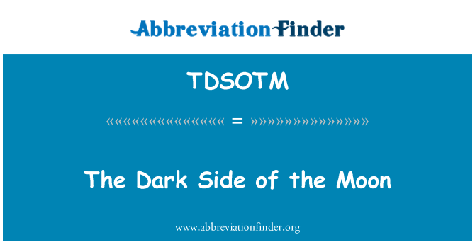TDSOTM: The Dark Side of the Moon