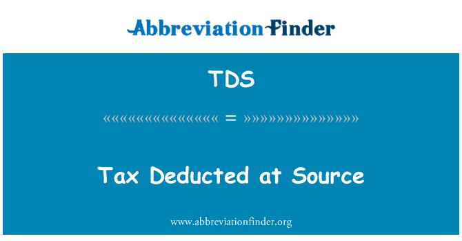 TDS: Impuestos deducidos en la fuente