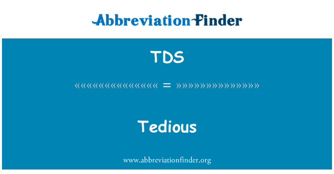 TDS: Tẻ nhạt