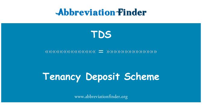 TDS: Esquema de arrendamiento depósito