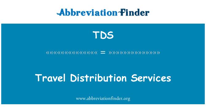 TDS: Servicios de distribución de viajes