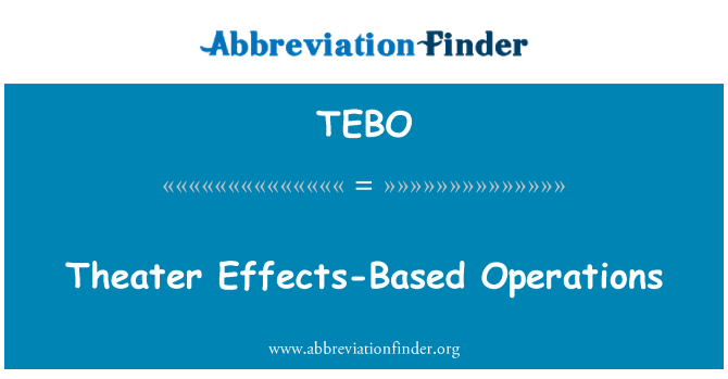 TEBO: Theater Effects-Based Operations