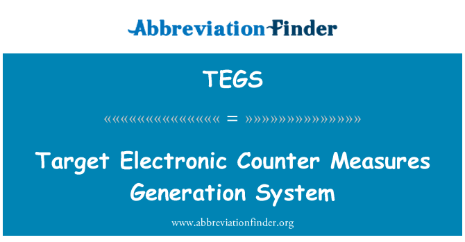 TEGS: Target Electronic Counter Measures Generation System