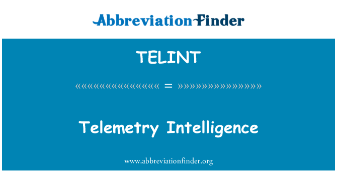 TELINT: Inteligencia de telemetría