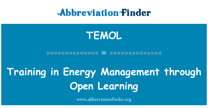 TEMOL: Training in Energy Management through Open Learning