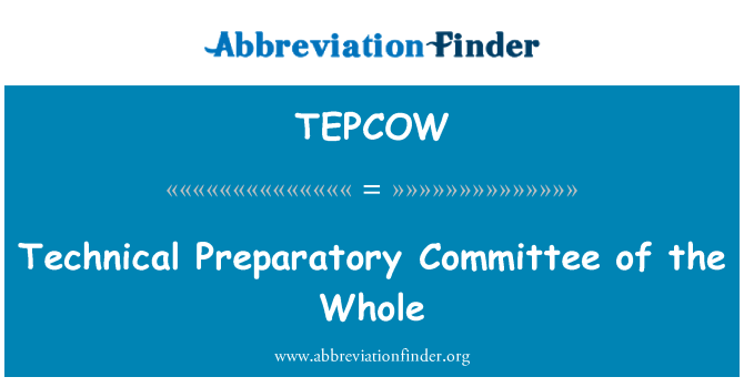TEPCOW: Technical Preparatory Committee of the Whole
