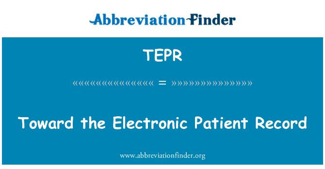 TEPR: 对电子病历