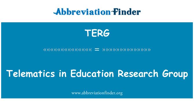 TERG: Telemaatika haridus uurimisgrupp
