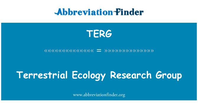 TERG: Maismaa ökoloogia uurimisrühm