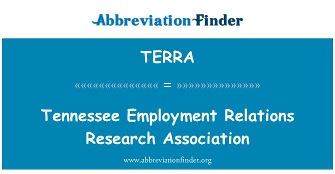 TERRA: Tennessee istihdam ilişkileri Araştırma Derneği