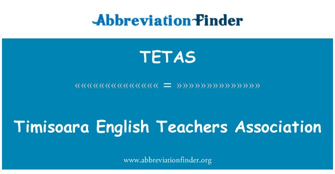 TETAS: Asociación de profesores de Inglés de Timisoara