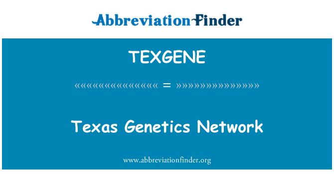 TEXGENE: Texas Genetics Network