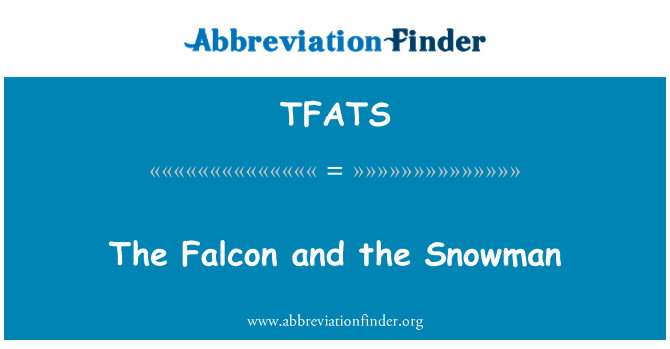 TFATS: The Falcon and the Snowman