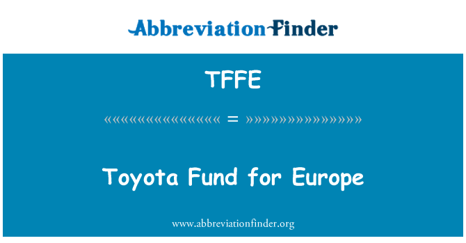 TFFE: Toyota Fund for Europe
