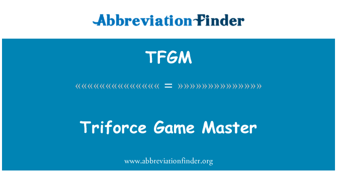 TFGM: Trifuerza Game Master
