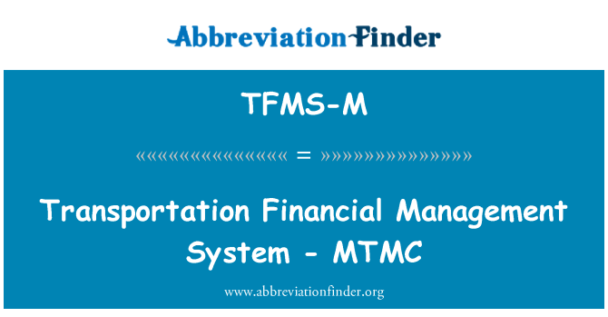 TFMS-M: نقل و حمل فنانشل مینجمنٹ سسٹم - مٹمک
