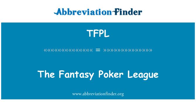 TFPL: The Fantasy Poker League