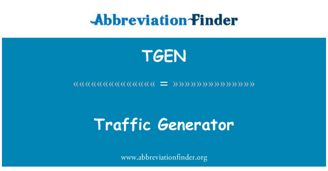 TGEN: Generador de tráfico
