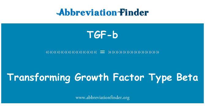 TGF-b: ركھتي هے نموئی عامل قسم بی ٹا