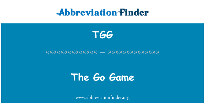 TGG: Mine mängu