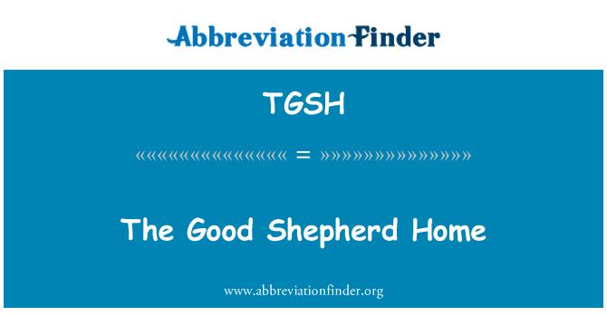 TGSH: The Good Shepherd Home