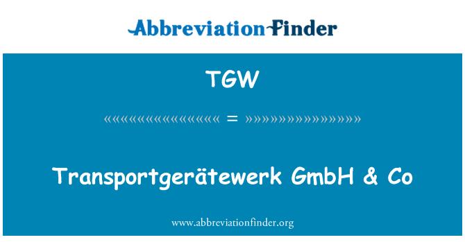TGW: Transportgerätewerk GmbH & Co &