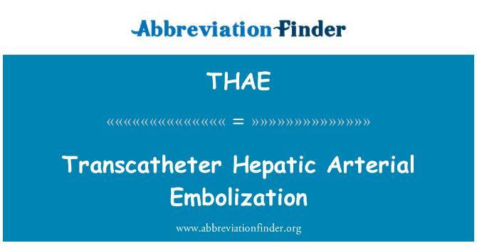 THAE: Transcatheter Hepatic Arterial Embolization