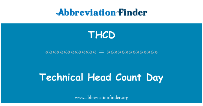 THCD: Technical Head Count Day