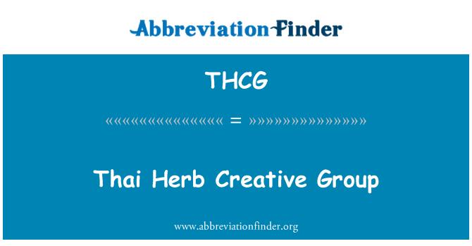 THCG: Kumpulan kreatif herba Thai