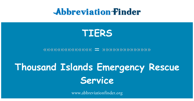 TIERS: Thousand Islands Emergency Rescue Service
