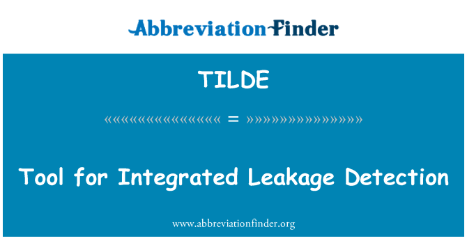 TILDE: Tool for Integrated Leakage Detection