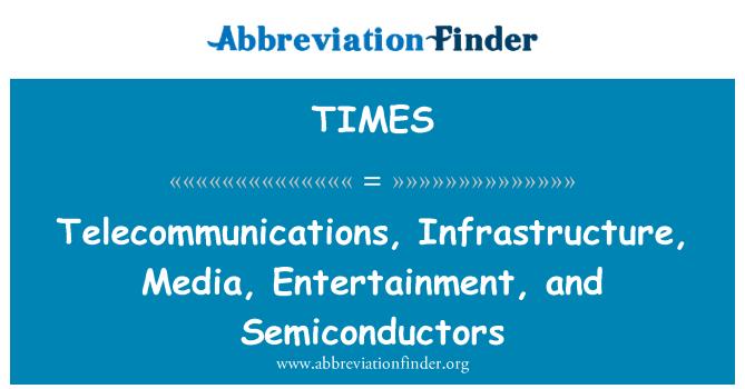 TIMES: Telekommunikatsiooni, infrastruktuuri, meedia, meelelahutus ja pooljuhid