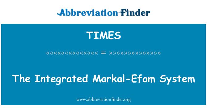 TIMES: Integreeritud Markal-Efom süsteem