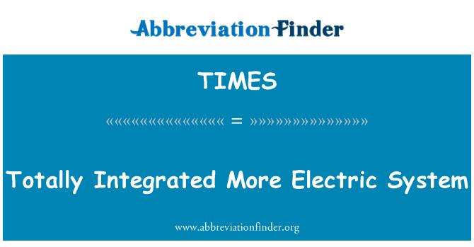 TIMES: Täielikult integreeritud rohkem elektrijuhtmed