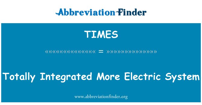 TIMES: Tamamen entegre daha elektrik sistemi