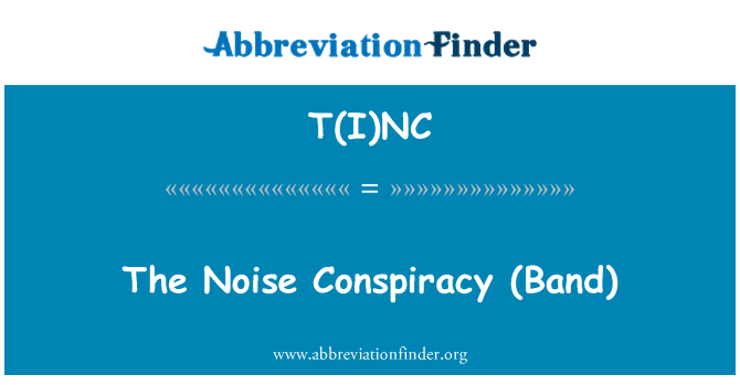 T(I)NC: The   Noise Conspiracy (Band)
