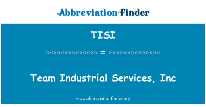 TISI: Equipo Industrial Services, Inc